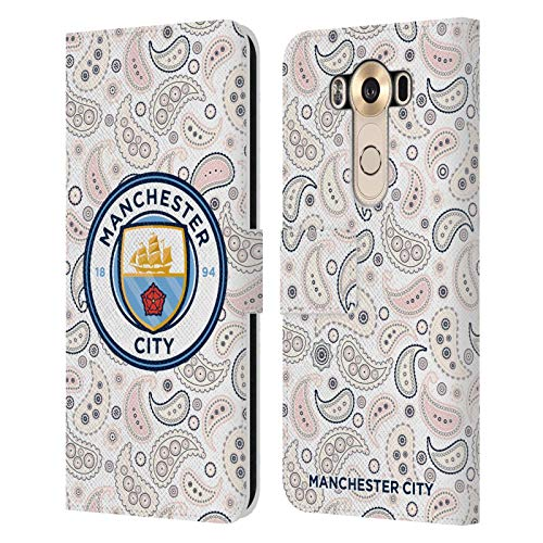 Head Case Designs Officially Licensed Manchester City Man City FC Third 2020/21 Badge Kit Leather Book Wallet Case Cover Compatible with LG V10