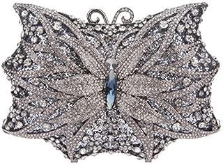 Fawziya Butterfly Bling Handbags For Women Evening Clutch Purse Bag