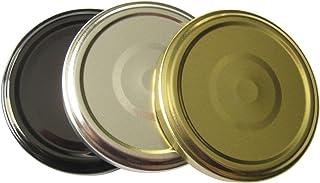 Nakpunar Canning Lids (Black, 66TW) Replacement lids for Nakpunar 2 oz Mason Jars, 6.75 square jars