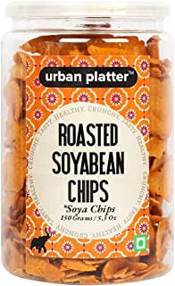 Urban Platter Roasted Soyabean Chips (SOYA Chips), 150g / 5.3oz [Crunchy, Spicy, Delicious]