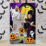 Halloween Photo Backdrop for Halloween Party Supplies Witch Photography Background Halloween Theme Photo Prop Backdrop for Large Halloween Party Birthday Party Decoration, 63.0 x 39.4 Inch