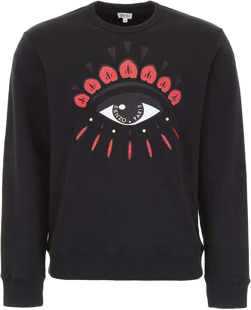 Kenzo eye sweatshirt,  felpa da uomo,100% cotone F955SW0554X7
