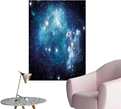 Anzhutwelve Space Wall Paper Vibrant Celestial Supernova Scenery Dynamic Energy Andromeda Mystical Outer Space PictureBlue W24 xL36 Space Poster