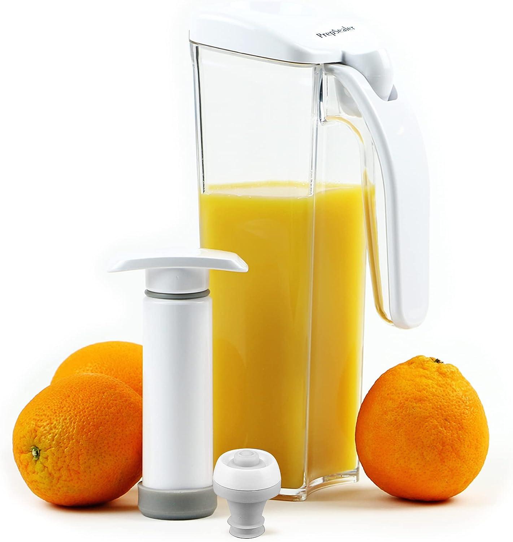 PrepSealer - 5 ☆ popular Food Saving Juice Container with Jug Manual Super sale Vacuum