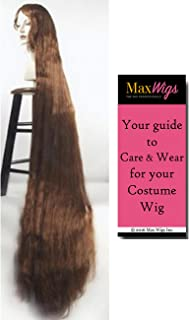 Better Discount Godiva Color BROWN - Lacey Wigs 5 ft Long Rapunzel High Theater Quality Style B1184 Bundle with MaxWigs Costume Wig Care Guide