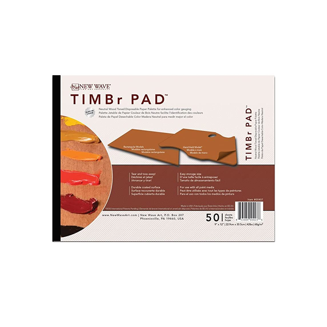 New Wave TIMBr Disposable Paper Palettes - Rectangular 9