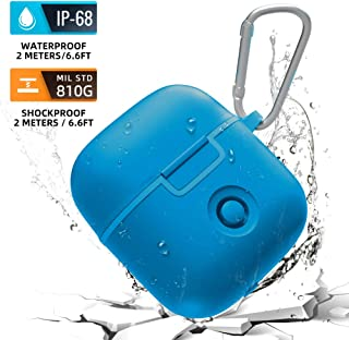 AddAcc Waterproof AirPods Case Protective Cover, Compatible with Charging Case for Airpods 2 (Latest Model), Wireless Charing Compatible,Carabiner Included