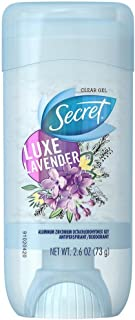 Secret Fresh Clear Gel Antiperspirant Deodorant, Luxe Lavender 2.6 oz (Pack of 3)