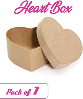 Paper Mache Heart-Shaped Box - DIY Valentine Boxes for Crafts - 4.5