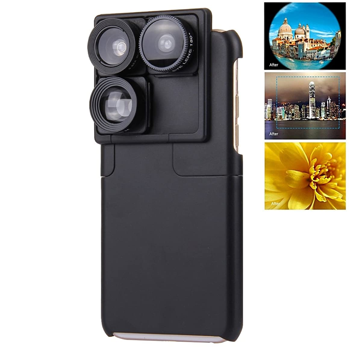 Beautiful Cases & Covers PICKOGEN 4 in 1 0.65X Wide Angle &180 Degree CD Hawk Eye Lens &2X iZiZ Telephoto Lens &Phone Case Camera Lens Phone Case for iPhone 6 Plus / 6s Plus for iPhone
