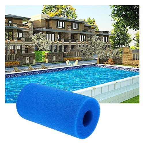 Waschbare Schaumstoffpatrone Geeignet für wiederverwendbare Pool Schaumstofffilter Filterschwamm für Reinigungswerkzeug Filterschwamm Kartusche Schaumfilter Pool Waschbar (Blau 2PCS)