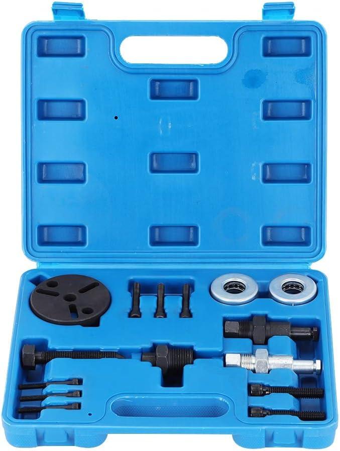 Kit de embrague de aire acondicionado, 15 unids/set, extractor de aire acondicionado universal automotriz, extractor de embrague de compresor, kit de herramientas