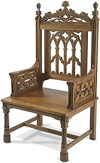 Canterbury Collection Maple Hardwood Celebrant Chair in Medium Oak Finish, 48 Inch