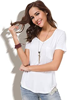 Best drapey white tee Reviews