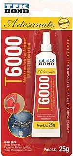 Cola para Artesanato Adesivo Extra Forte - Blister com 1 Unidade, Tekbond, T6000, Multicor, 25 g