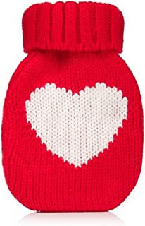 Wrapables Mini Hottie Knitted Hand Warmer w/Re-usable Hot Pack, Heart Red