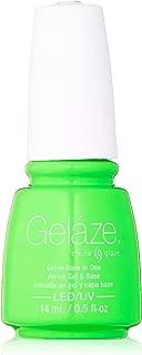 Gelaze Gel-N-Base Polish, In the Lime Light, 0.5 Fluid Ounce