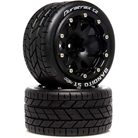 Black 2 0 Offset DTXC5530 Duratrax Bandito ST Belted 2.8 2WD Mounted Rear Tires