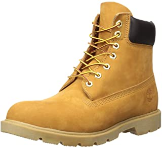 "Timberland mens 6"" Basic - Contrast Collar Boot, Wheat Nubuck, 11.5 US"