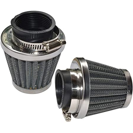 Baitaihem Pack of 2 Motorcycle POD Air Filter Dirt Pocket Bike ATV Pit Bike 35 38 39 40 42 46 48 50 52 54mm (38mm/39mm/40mm)