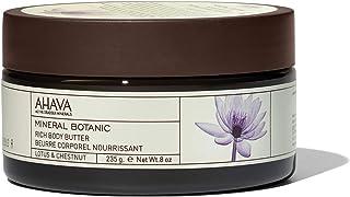 AHAVA Mineral Botanic Body Butter, Lotus & Chestnut, 235g