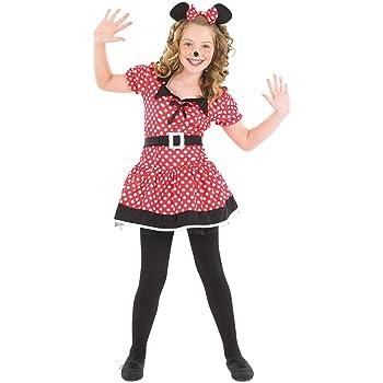 Fun Shack Roja Miss Mouse Disfraz para Niñas - L: Amazon.es ...