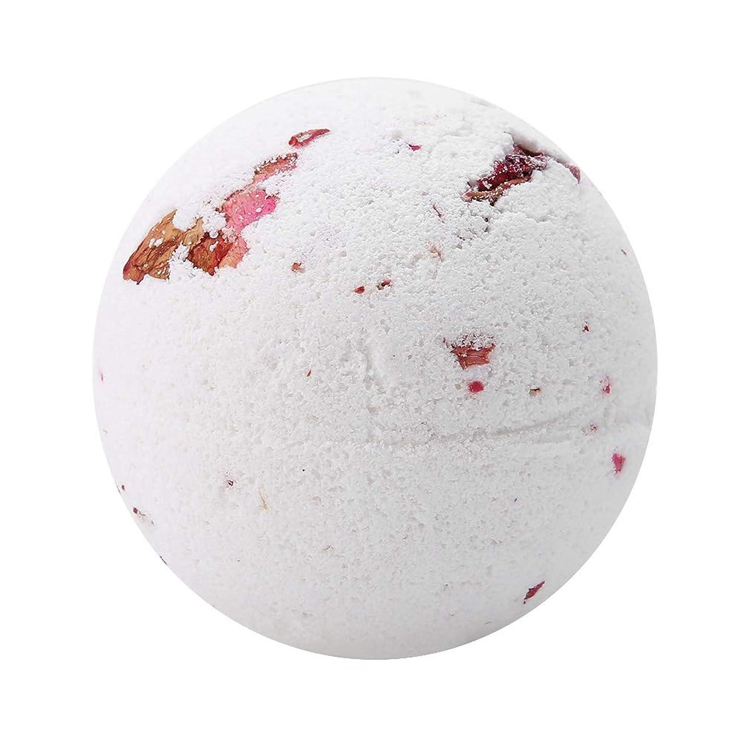 ピアニストかすかな円形入浴剤 100%天然エッセンシャルオイル&ドライフラワー、アロマテラピーリラクゼーション乾燥肌、キューティクルの柔らかさ 泡風呂 ガールフレンドのアイデアギフト 女性 母親(Milk Rose)