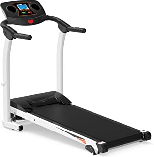 Rhomtree Folding Treadmill Electric Motorized Power Running Machine with Incline Walking Jogging Exercise Fitness Treadmill Workout Trainer Equipment for Home Gym Office