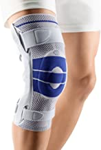 Bauerfeind - GenuTrain S - Knee Support - Extra Stability to Keep The Knee in Proper Position - Left Knee - Size 4 - Color Titanium