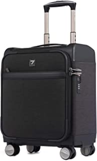 16 inch Carry on Business Suitcase Lightweight Underseat Spinner Luggage with TSA Lock Black