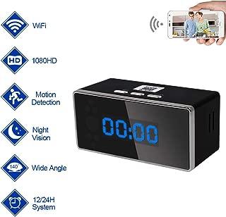 Hidden Spy Camera Clock Nanny Cam WiFi TANGMI 1080P HD Motion Detcion Secret Camcorder Seuveillance Video Recorder