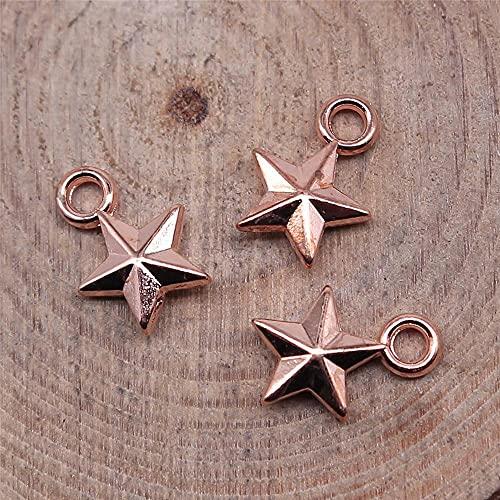 WANM Colgante 40 Uds 10X7Mm Pentagrama Estrella Encantos Joyería Antigua Fabricación De Accesorios De Joyería DIY