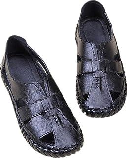 Bohemian women's sandals Leather Sandals Flats Retro Mother Sandals
