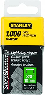 Stanley Tra206T 3/8 Inch Light Duty Staples, Pack of 1000 (2 pack)