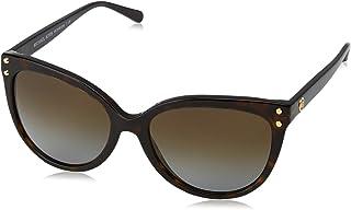 MICHAEL KORS Women's JAN 3006T5 55 Sunglasses, Dark Tortoise Acetate/Browngradientpolarized