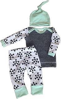 Aliven Baby Boys' Infant Autumn Warm Clothes Tops+ Pants+ Hat Outfit Set 3Pcs