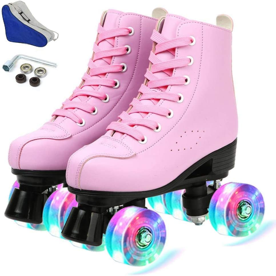 Roller Max 82% OFF Skates for Women Men High PU Top Leather Reservation Classic Double-
