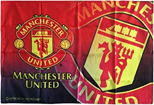AJBOY Manchester United Football Club Flags Soccer Logo Banner Flag Indoor and Outdoor Flags Bar/Party Decoration Flag(Manchester United,37.4-25.6in)