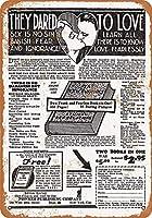 ヴィンテージアルミニウムレトロメタルサインインチ、倫理的な関係に関する本の1932年の広告、ヴィンテージアルミニウムレトロメタルプラーク警告サインティンアート壁の装飾ヴィンテージ装飾サイン