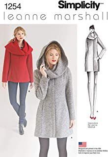 Simplicity 1254 Women's Lined Coat or Jacket Sewing Pattern by Leanne Marshall, Sizes 14-22