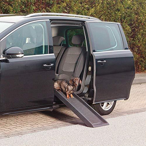 Pet Treppen Schwarze Hunderampe, Tragbare Haustierrampe für Autos Rücksitzleiter, Leichte Haustierautorampe für Große Hunde, Last Bis zu 200 Pfund
