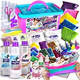 Unicorn Slime Kit for Girls, FunKidz Slime Making Kit Stress Relief Toy Fluffy Cloud Foam Butter Glitter Slime with Unicorn Charms Accessories Supplies for Kids
