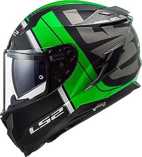 Amazon.es: casco de moto integral verde y negro