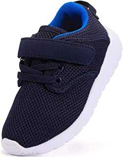 DADAWEN Boy's Girl's Lightweight Breathable Sneakers Strap Athletic Running Shoes Size: 7 Toddler