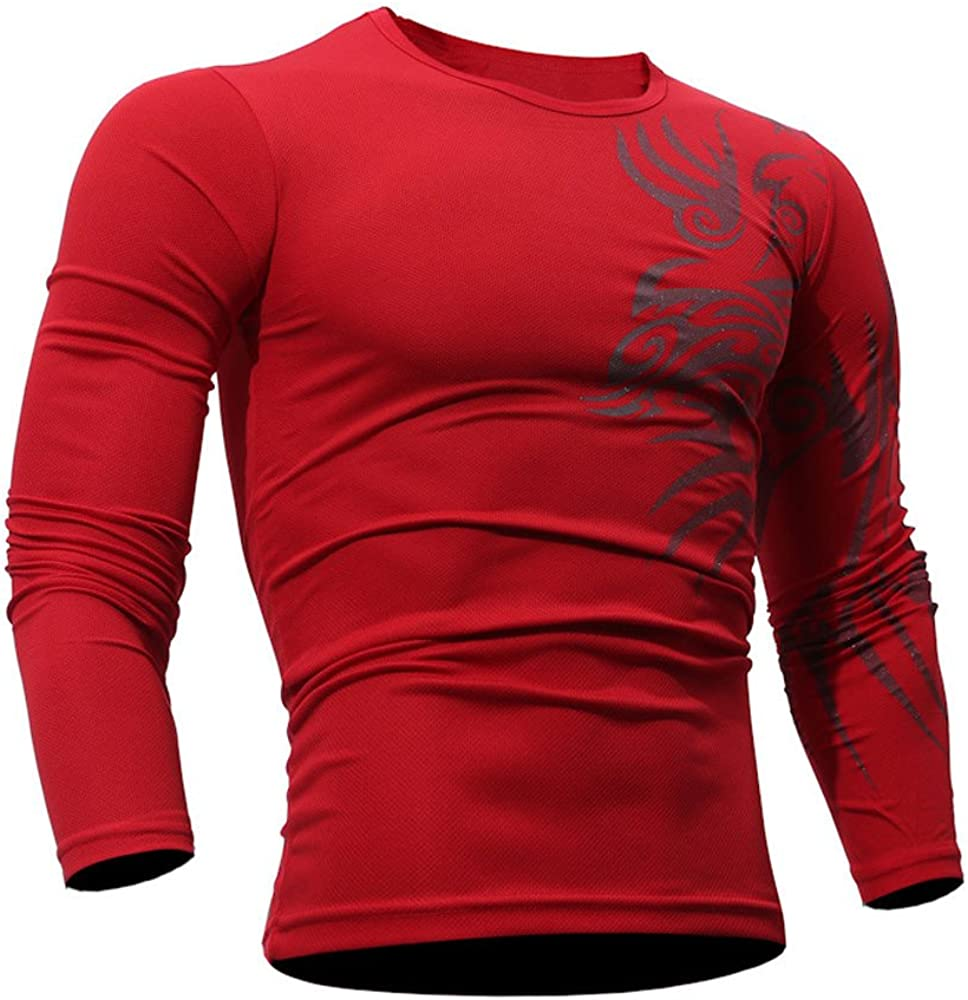 Fxbar,Mens Sweatshirt Fashion Slim Fit Sport Outwear 3D Printed Jumper