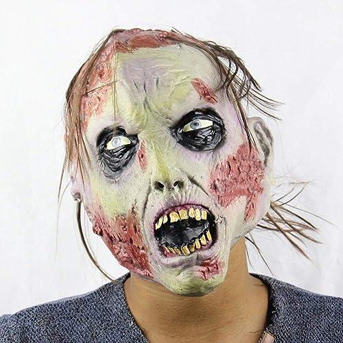tienda de venta Circlefly Asqueroso Zombie Horror Cara Podrida Podrida Podrida Zombie Halloween Navidad Traje Bola apoyos Adultos Horror máscara Fantasma  en promociones de estadios