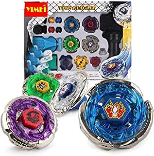 YIMEI Battling Tops Metal Master Fusion Storm Pegasus/Flame Libra/Earth Eagle/ Lightning L-Drago Spinning Launcher Tops To...