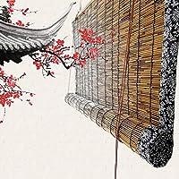 HMM 竹 ロール スクリーン、100x250cm、ナチュラル、バンブー すだれ、竹のブラインド、ロール スクリーン 竹、取り付けアクセサリ付き、カスタマイズ可能なサイズ