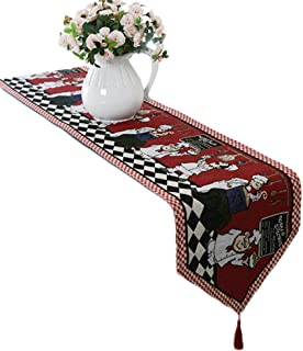 """Best Cheerful Chef Table Runner with Decorative Fringe - Farmhouse Cotton Linen Table Runner for Family Dinners or Gatherings, Indoor or Outdoor Parties & Everyday Use - 13""""x71"""" Reviews"""