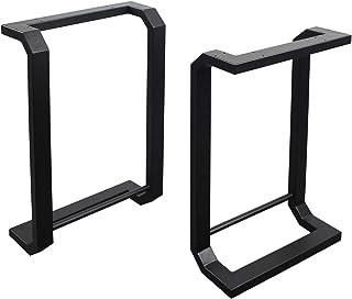 MBQQ 家具脚 高さ28インチ x 幅17.7インチ 素朴な装飾 半月形のテーブル脚 丈夫なメタルデスク脚 ダイニングテーブル脚 DIYアイアンベンチ脚